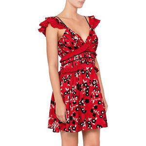 SELF-PORTRAIT NWOT Cold shoulder ruffle mini dress